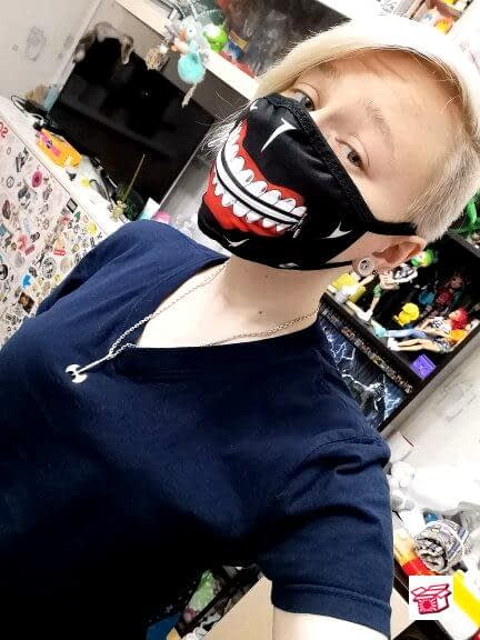 Anime Tokyo Ghoul Kaneki Ken Eye and Face Costume Accessories Unisex