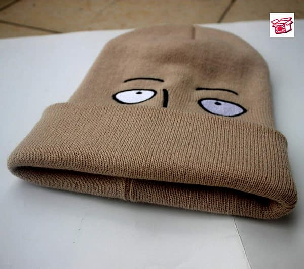 Japanese Anime Cosplay One Punch Man Hat Saitama Cosplay shaven head Style Winter Warm Wool Cap Halloween Hats and Caps Hot Sale