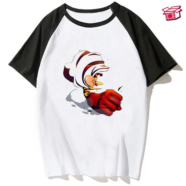 Funny One Punch Man T Shirt Women Kawaii Grunge Aesthetic Summer Tops Japanese Anime Tshirt Hot Cartoon Unisex T-shirt Female