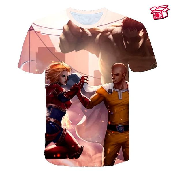 Anime One Punch Man Unisex Fashion Short Sleeve T-shirt
