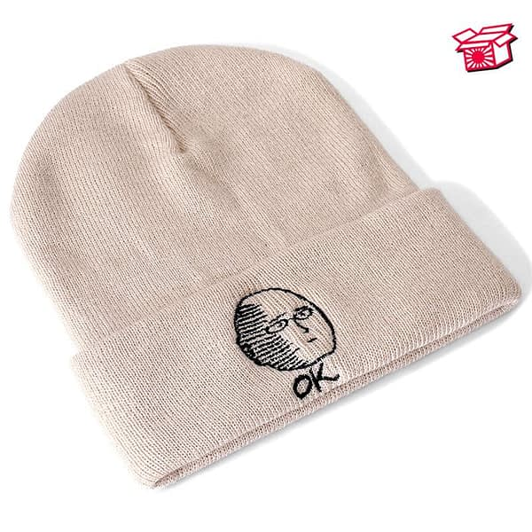 ONE PUNCH-MAN Anime Cotton Casual Beanies for Men Women Knitted Winter Hat Solid Color Hip-hop Skullies Hat Unisex Cap