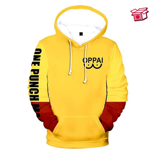 Anime One Punch Man Cosplay Costume Saitama Oppai 3D Printed Oversized Women / Men Hoodies Sweatshirts Casual Tracksuit